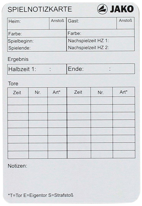 Derbystar Spiel-NOTIZKARTEN 20 ST/‹CK Weiss//ro//gb