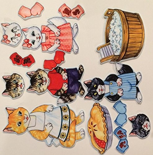 Figure Kitten - The Three Little Kittens Felt Figures for Flannel Board Stories- Precut Lesson Guide