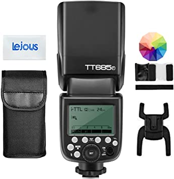 Godox TT685F TTL 2.4G GN60 High-Speed Sync 1//8000S 0.1-2.6 Seconds Recycle Time,230 Full Power Flashes Flash Speedlite Light Compatible for Fujifilm Camera with Diffuser /& Filter /& USB LED