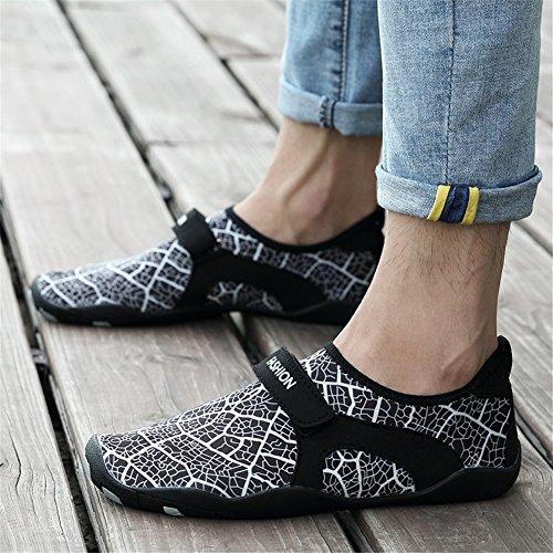 Zapatos Natación Zapatillas de Unisex Surf Rápido 1 Estilo Yoga Hombre negro Secado Zapatos Mujer Blanco Playa Agua qTUrq
