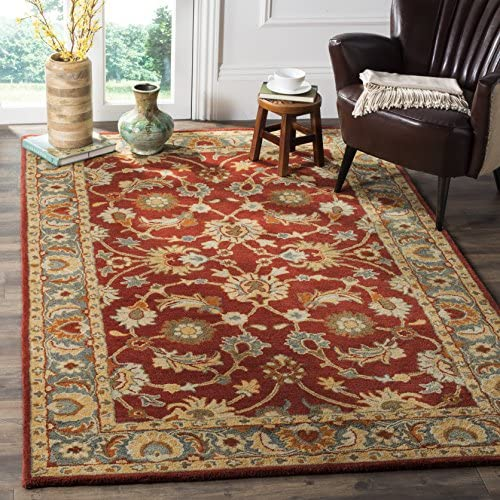 Safavieh Heritage Collection HG403A Traditional Red and Blue Area Rug 9 x 12