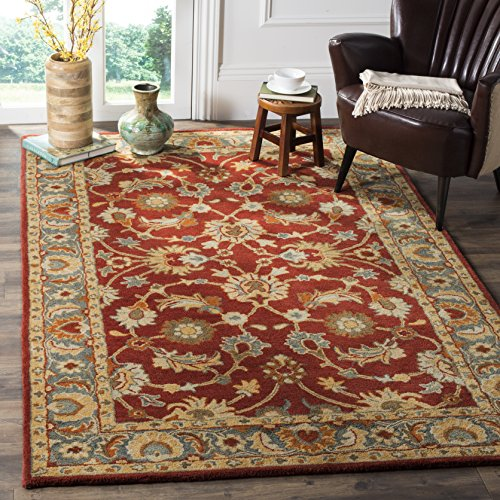 Safavieh Heritage Collection HG403A Traditional Red and Blue Area Rug 6 x 9