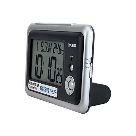 CASIO 10271 DQ-748-8D - Reloj Despertador Digital Gris: Amazon.es: Relojes