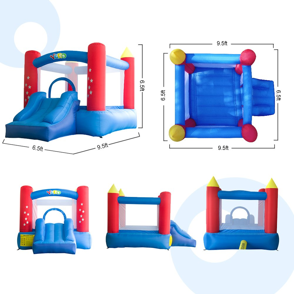 YARD Party Event Games Kids Bounce House Home Activities Children Inflatable Bouncy Castle with Slide Include Blower (9.5'x6.5'x6.5') by YARD (Image #4)