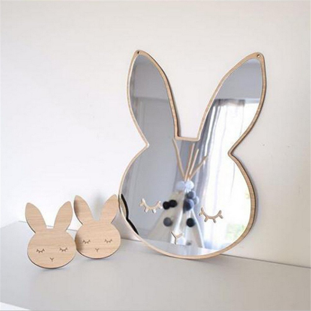Acrylic And Wood Rabbit With Butterfly Gift Newemergingstyle Wall