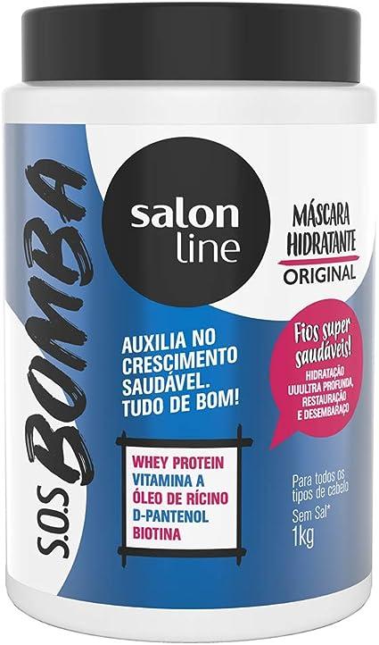Linha Tratamento (SOS Bomba de Vitaminas) Salon Line – Mascara Explosao De Hidratacao 1000 Gr – (salon Line Treatment (Vitamin Bomb SOS) Colección – ...