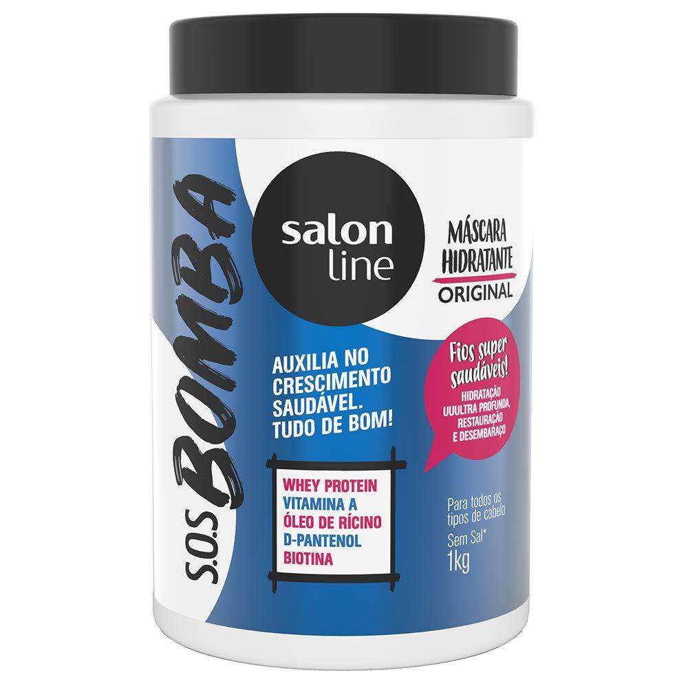 Linha Tratamento (SOS Bomba de Vitaminas) Salon Line - Mascara Explosao De Hidratacao 1000