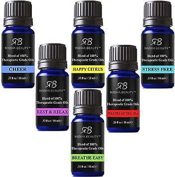 Radha Beauty Set de mezclas de aceites esenciales y kit natural ...