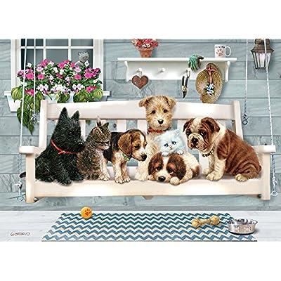 Cobblehill 54602 Multi 350 Porch Pals Puzzle, Various: Toys & Games