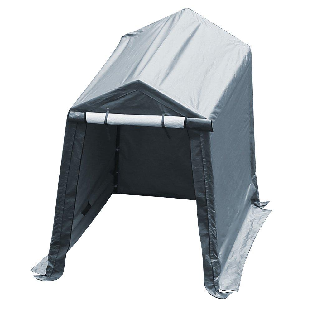 Abba Patio Storage Shelter 7 x 12- Feet Outdoor Shed Heavy Duty Canopy, Grey