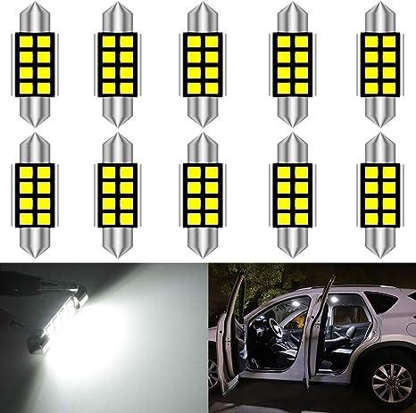 LAMPADINA SILURO C5W 42mm 24 LED 4014 NON DA ERRORE LUCI AUTO TARGA CANBUS