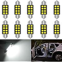 katur 10pcs pure white LED de bombillas C5W