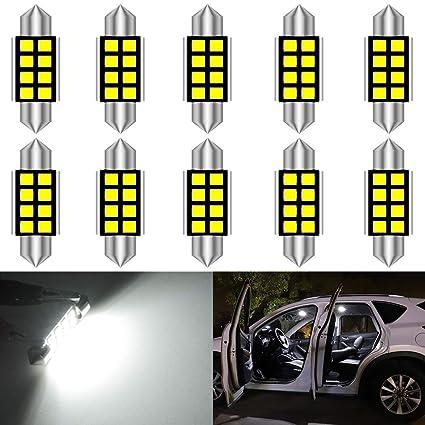 KaTur 36mm 6418 6461 LED Super Brillante 5630 Chipsets CanBus de Aluminio Festoon sin Errores Mapa del Interior de la Puerta del Coche Luces de Techo ...