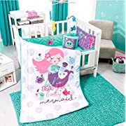 JORGE'S HOME FASHION INC LIMITED EDITION LITTLE MERMAID BABY GIRLS CRIB BEDDING SET 6 PCS 100% COTTON