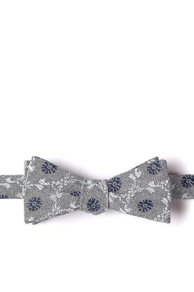 La Grande Gray Cotton Skinny Bow Tie