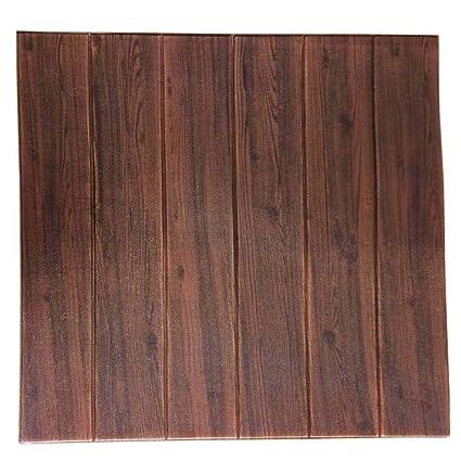 Amazoncom Poppap 3d Foam Wall Panels Faux Wood Texture Peel Stick