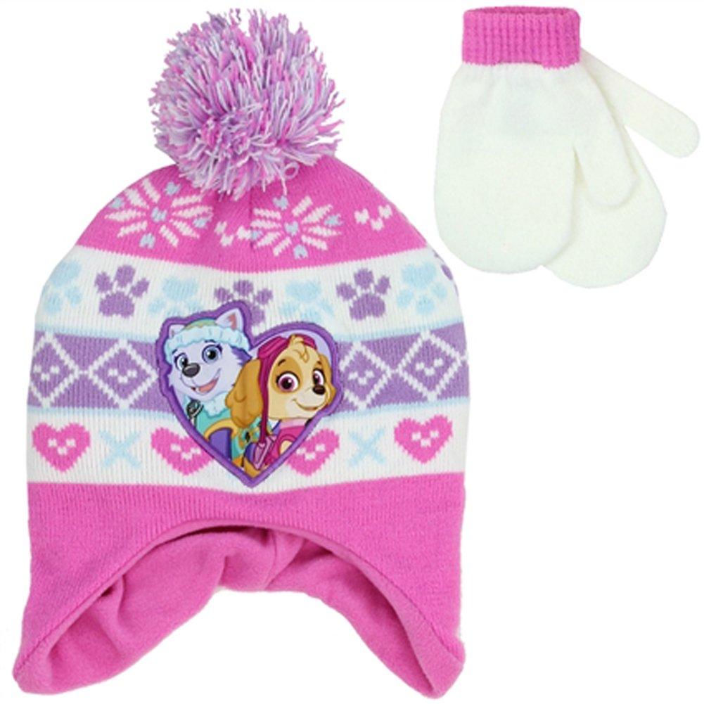 PAW PATROL GIRLS WINTER HAT & MITTENS SET