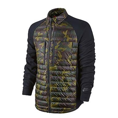 cb454674f35a43 Nike Tech Fleece Aeroloft Jacket Jacke Herren Windjacke Daunenjacke Schwarz  678263 355