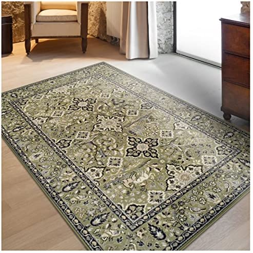 Superior Radcliffe Collection Area Rug, 8mm Pile Height with Jute Backing, Traditional European Tapestry Design, Fashionable and Affordable Woven Rugs – 4 x 6 Rug