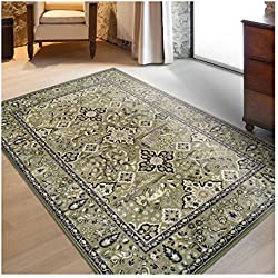Superior Radcliffe Collection Area Rug, 8mm Pile Height with Jute Backing, Traditional European Tapestry Design, Fashionable and Affordable Woven Rugs - 4' x 6' Rug