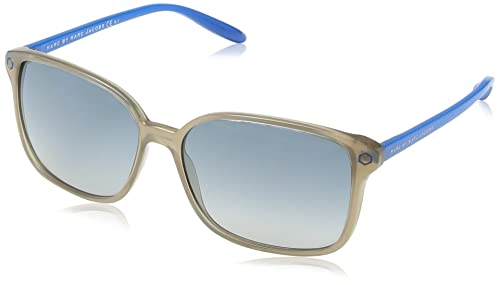 Marc Jacobs – Gafas de sol Rectangulares MMJ 203/S para mujer, Blue Frame/Gradient Grey