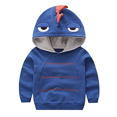 Aivtalk Boys Autumn Long Sleeve Strip Dinosaur Hoodie Toddler Outwear Clothes