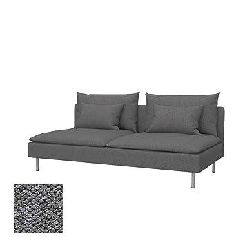Soferia - IKEA SÖDERHAMN Funda para sofá Cama, Nordic Grey ...