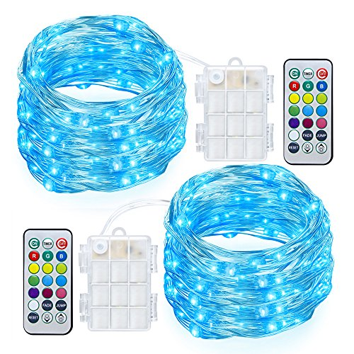 Gdealer 2 Pack Rgb Multi Color Change String Lights Fairy