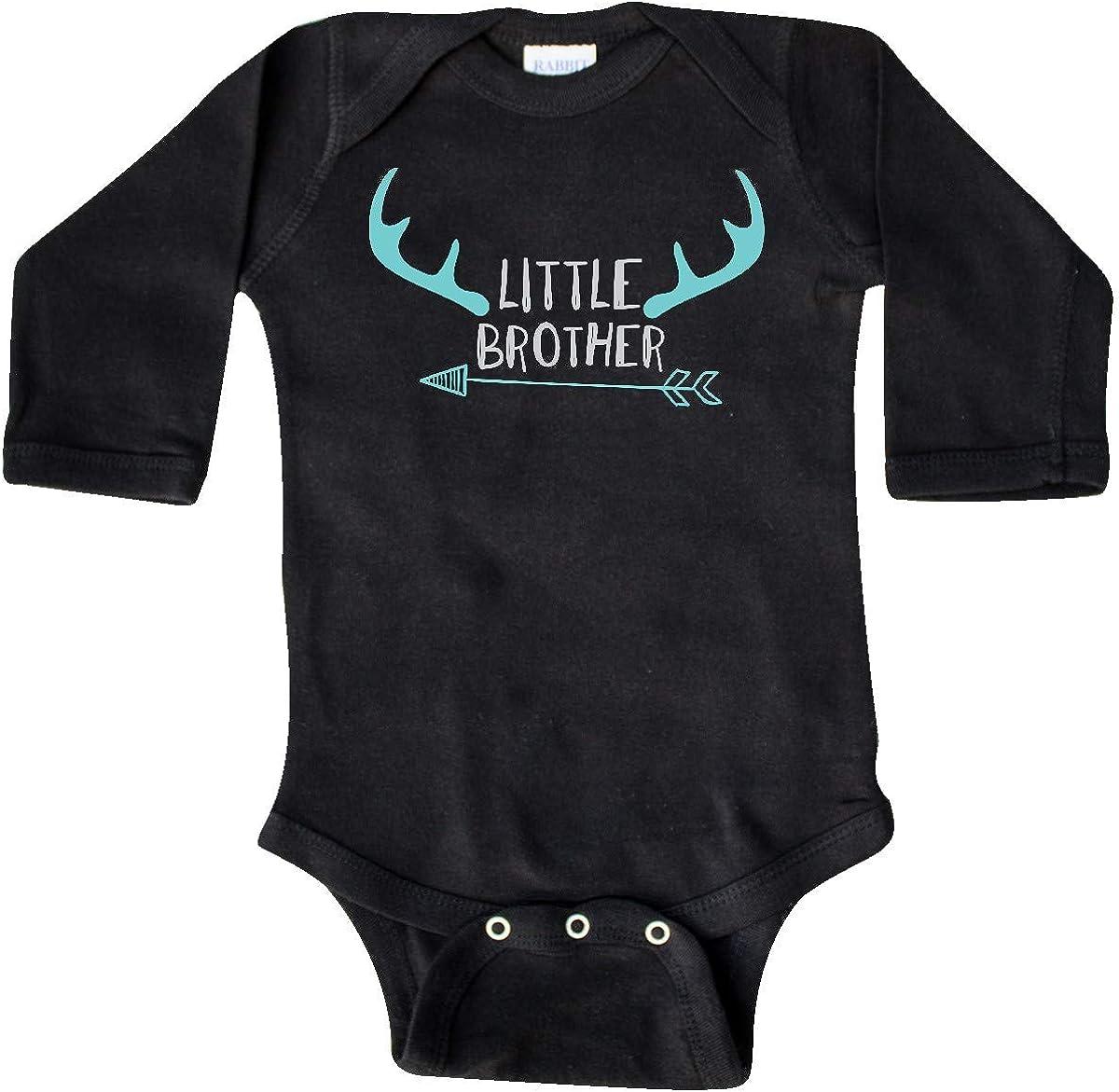 Blue Gray Long Sleeve Creeper Arrow inktastic Little Brother Deer Antlers