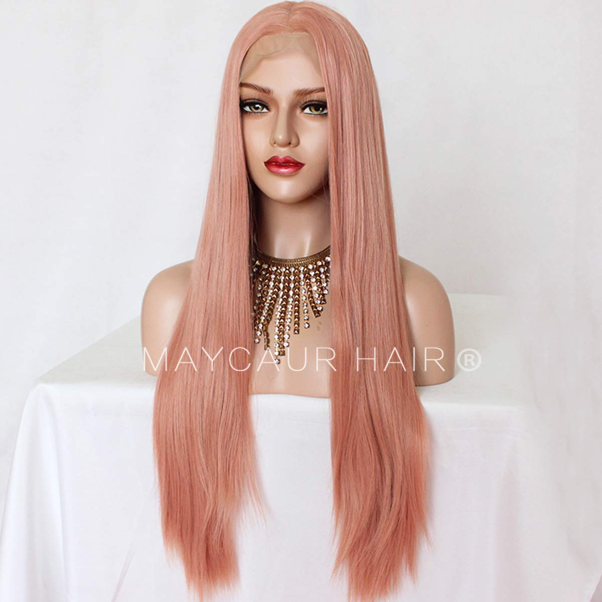 Sylvia Black Synthetic Lace Front Wig With Baby Hair Middle Part High Temperature Fiber Wig For White Women Natural Cool Color At All Costs Synthetic None-lacewigs Hair Extensions & Wigs