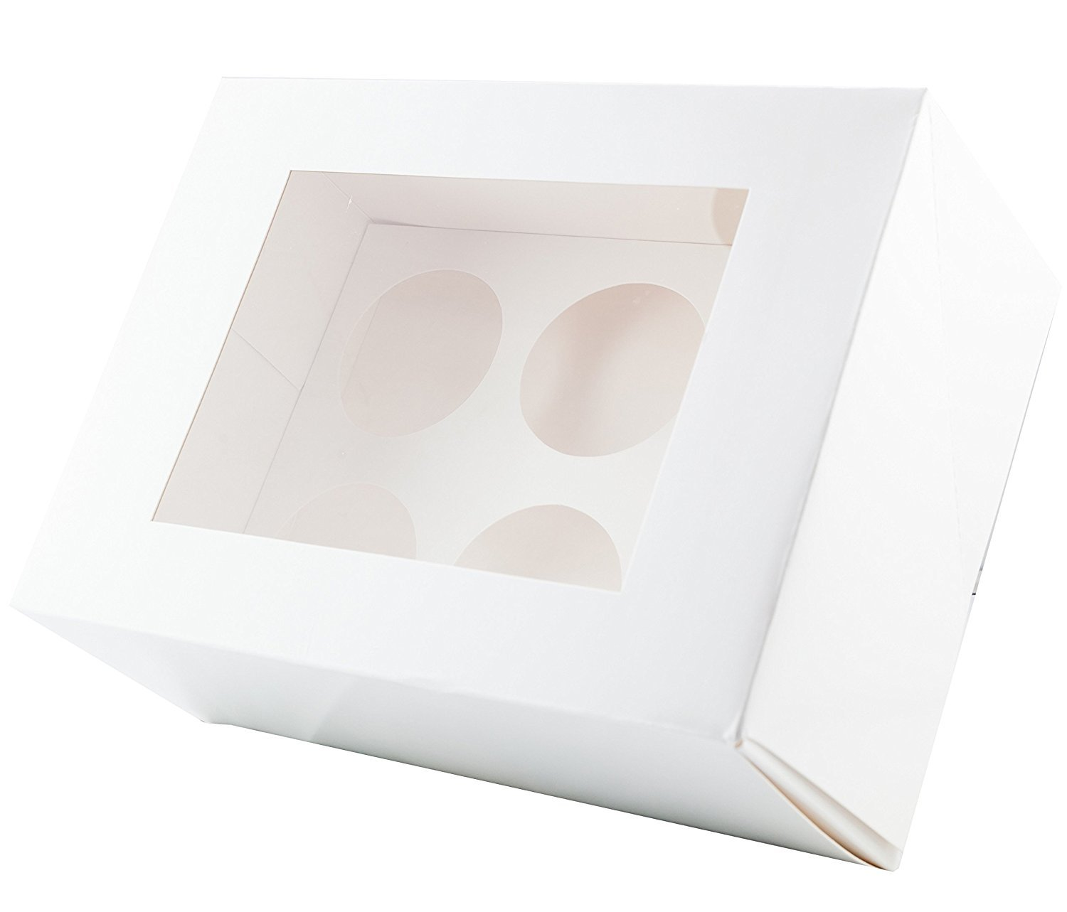 10x White Cupcake Boxes - 6 Holes Shireproducts 0754220471989