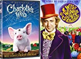 Willy Wonka & the Chocolate Factory & Charlotte's Web DVD Animated Cartoon Set