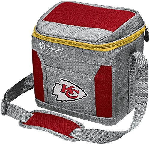 (Coleman NFL Soft-Sided Insulated Cooler Bag, 9-Can Capacity with Ice, Kansas City)