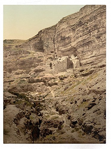 Historic Photos Convent of Elijah and Brook of Kerith, Wady-el-Keit, Holy Land by Historic Photos