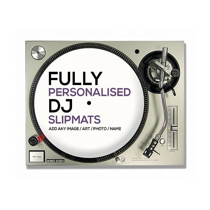 1 par de personalizado/personalizado DJ Tocadiscos Slipmats (tu ...