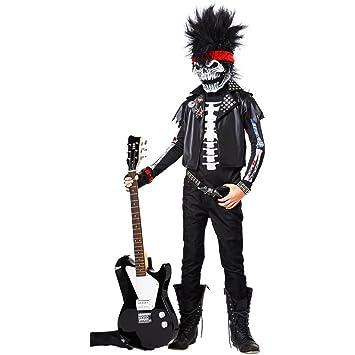 Disfraz esqueleto rockero niño 8 a 10 años (128-140)
