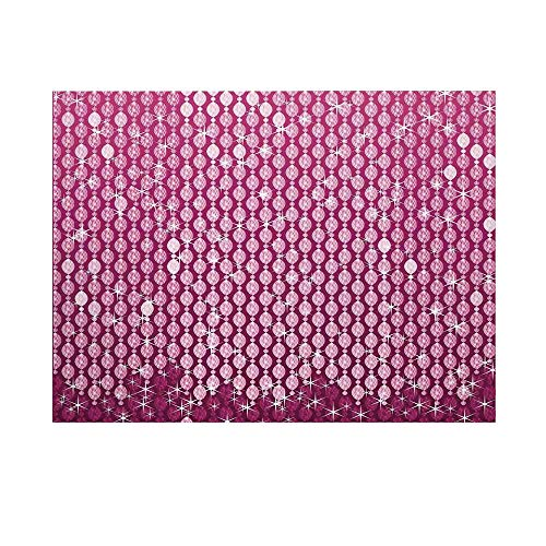 - Magenta Photography Background,Abstract Oval Diamonds Dangling Art Digital Print Design with Ombre Color Decorative Backdrop for Studio,7x5ft