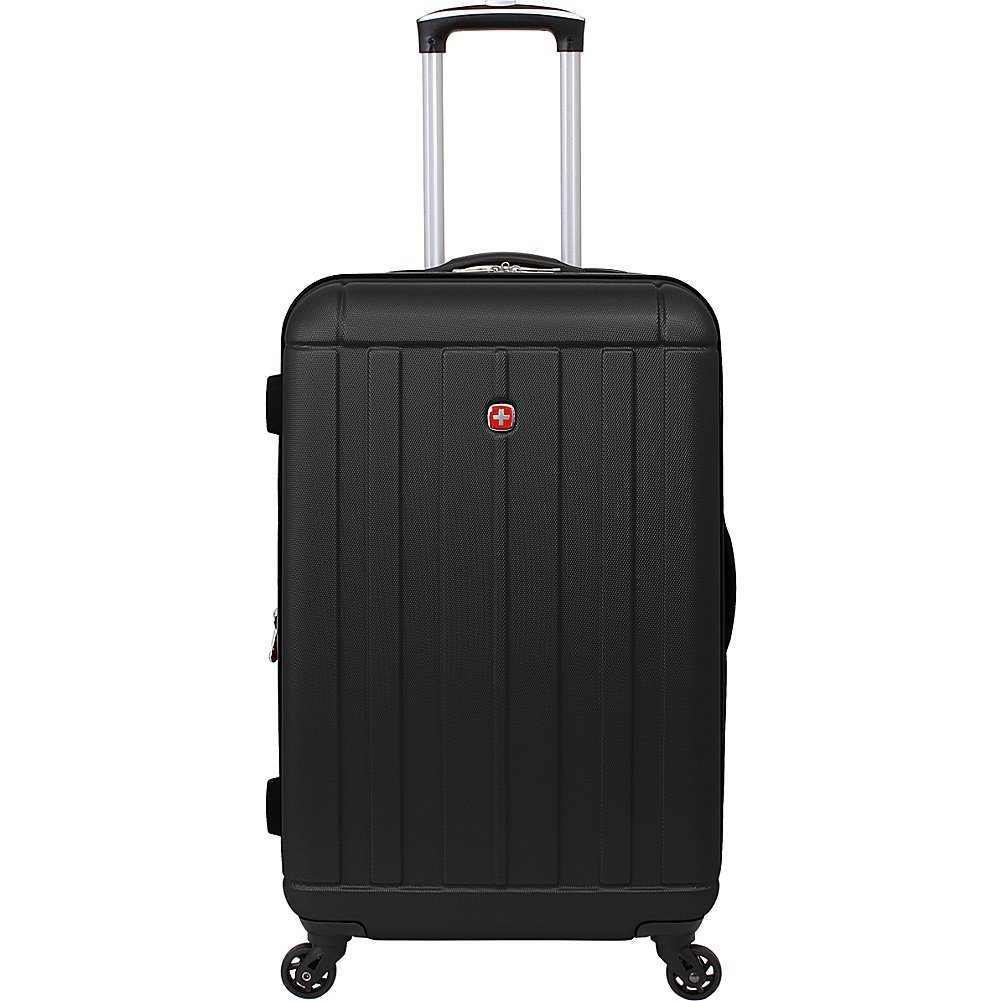 SwissGear Travel Gear 6297 24'' Expandable Hardside Spinner Luggage (Black)