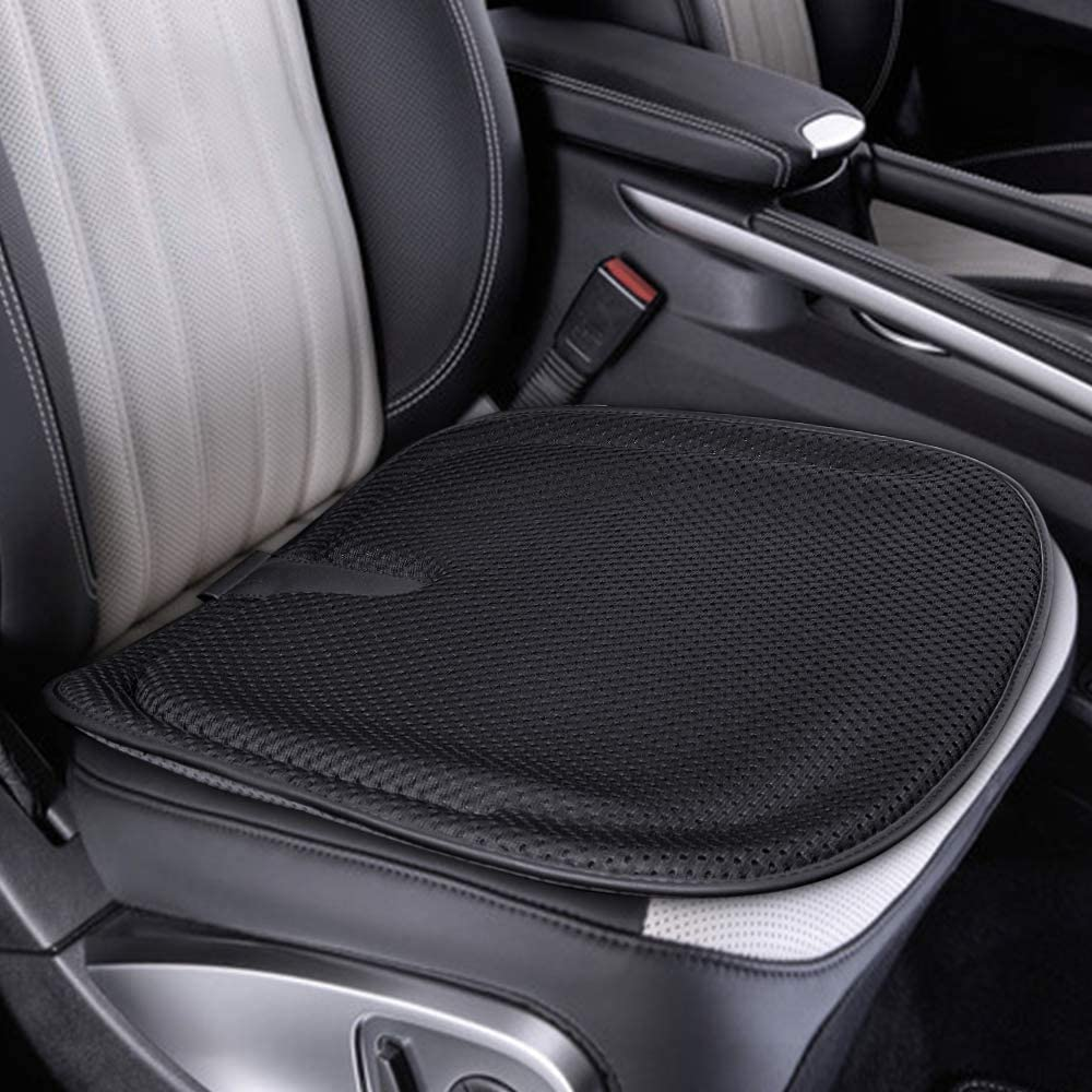 Tsumbay Gel Seat Cushion for Office Chair Memory Foam Car Seat Cushion Cooling Gel Cushion for Tailbone Coccyx Pain Relief Non-slip Comfort Seat Protector Perfect for Wheelchair, Car, Desk Chair-Black