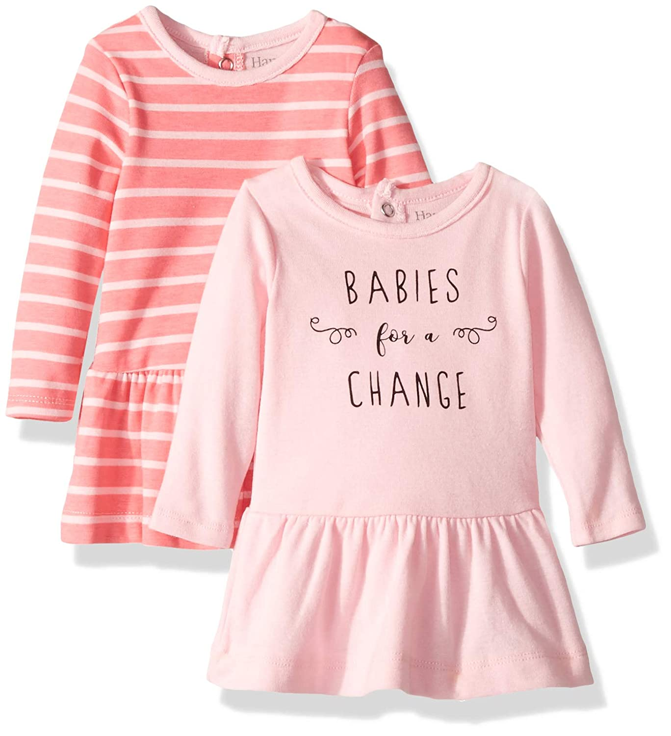 Hanes Ultimate Baby Flexy 2 Pack Knit Long Sleeve Dresses