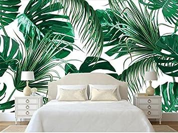 JING DIAN Fototapete 3D Tapeten Fototapete Benutzerdefinierte Wohnzimmer  Wandbild Tropic Banana Leaf Gemälde Malerei