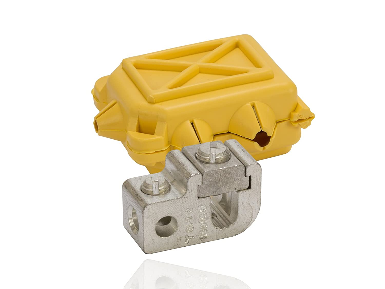 4-14 Tap Dual Rated Mechanical Tap Connector with Insulating Cover 1.375 Length 0.875 Height 0.625 Width 2-12 str Main