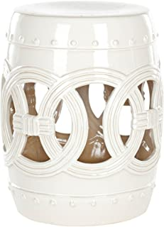 Safavieh Castle Gardens Collection Knotted Rings Ceramic Garden Stool White : ceramic barrel stool - islam-shia.org