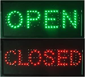 CHENXI Open & Closed 2 in 1 LED Sign Store Neon Business Bar Shop Closed Light On/Off Switch 48 X 25 cm (48 X 25 cm, Open&Closed)