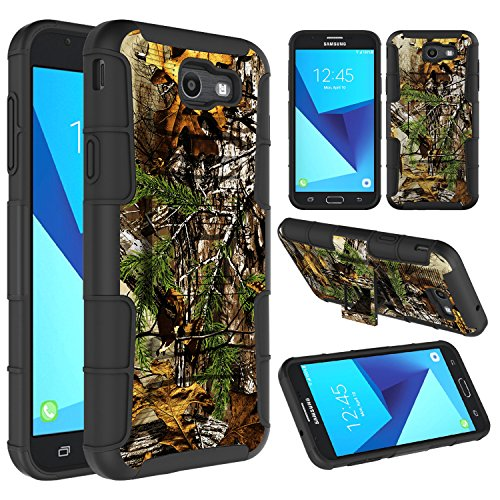 Galaxy J7 Sky Pro Case, Galaxy J7 V Case, Galaxy J7 Perx Case, Elegant Choise Heavy Duty Full Body Protective Case Cover with Belt Swivel Clip and Kickstand for Samsung Galaxy J7 2017 (Camouflage)