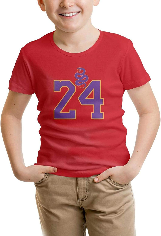 Kids Short Sleeve T-Shirt Fishing Mamba Fashion Pure Tee for Boys