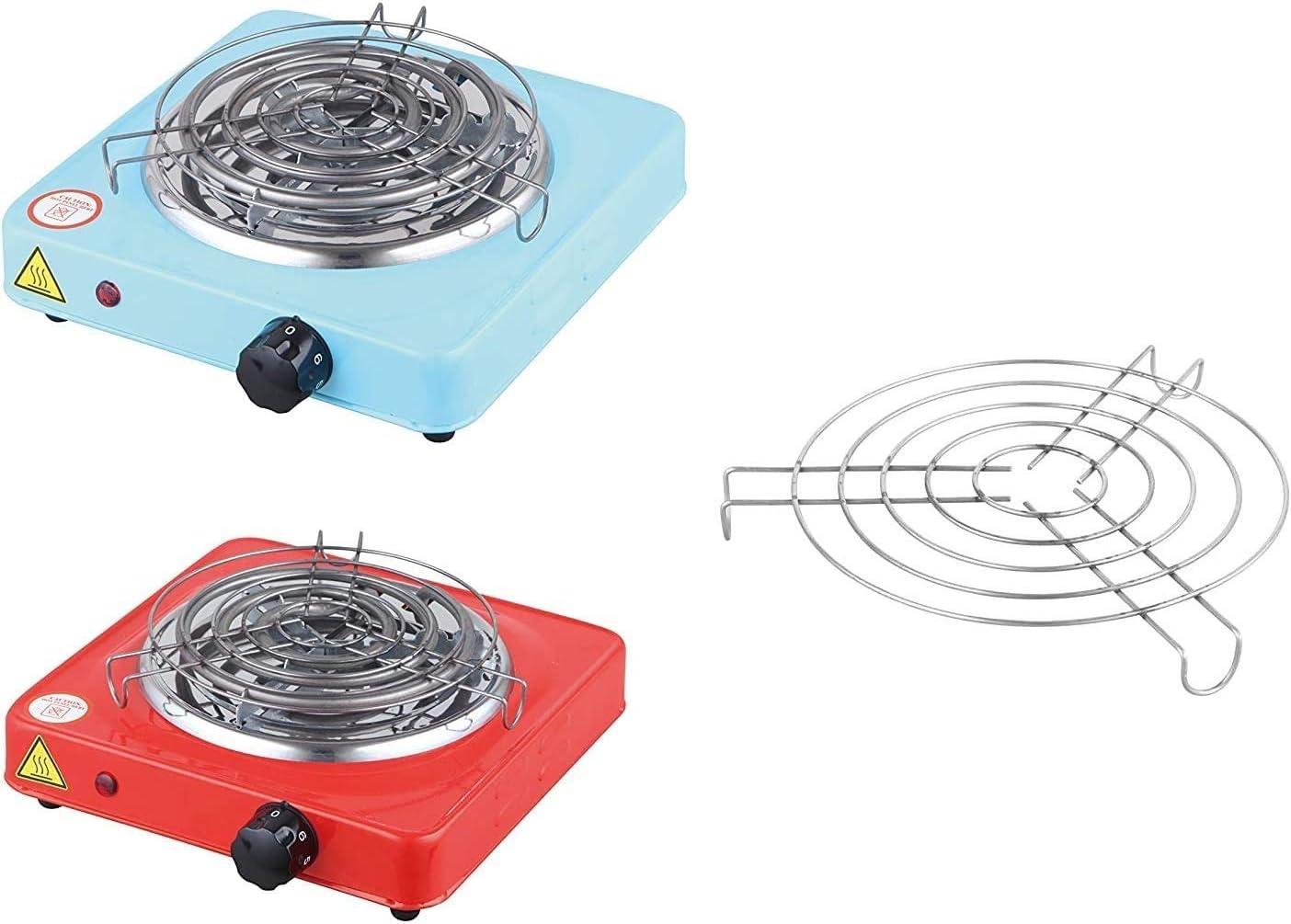 MAXELL POWER Cocina ELECTRICA para Shisha con Grill CACHIMBA Carbon HORNILLO 1000W Colores (Azul): Amazon.es: Deportes y aire libre