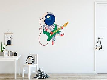 Vinilo Decorativo para Pared Astronauta Tocando la Guitarra | Varias Medidas 90x100cm | Pegatina Adhesiva Decorativa de Diseño Elegante: Amazon.es: Hogar