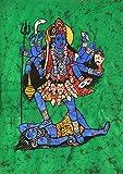 Kali, The Terrible - Batik Painting On Cotton