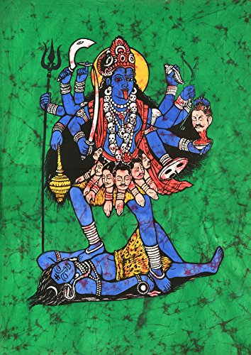 Kali, The Terrible - Batik Painting On Cotton